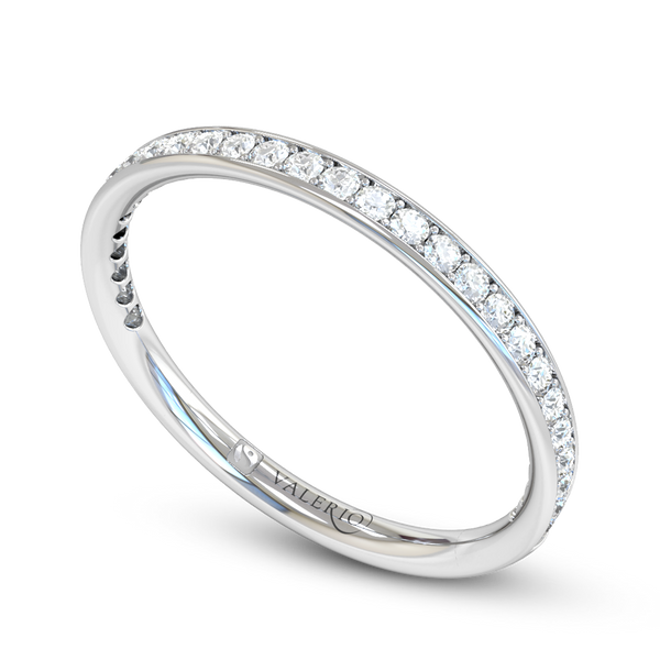 Fairtrade 18 ct. Gold Diamond Grain Set Eternity Ring