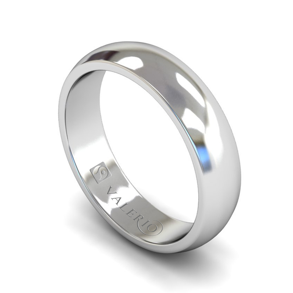 Fairtrade White Gold Mens Wedding Ring