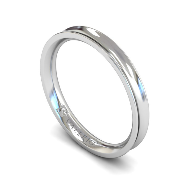 Fairtrade Gold Concave Court Women's Wedding Ring