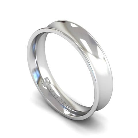 Fairtrade Gold Concave Court Men's Wedding Ring