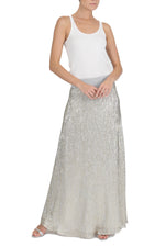 Metallic Sweep Skirt
