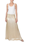 Metallic Silk Blend A Line Skirt