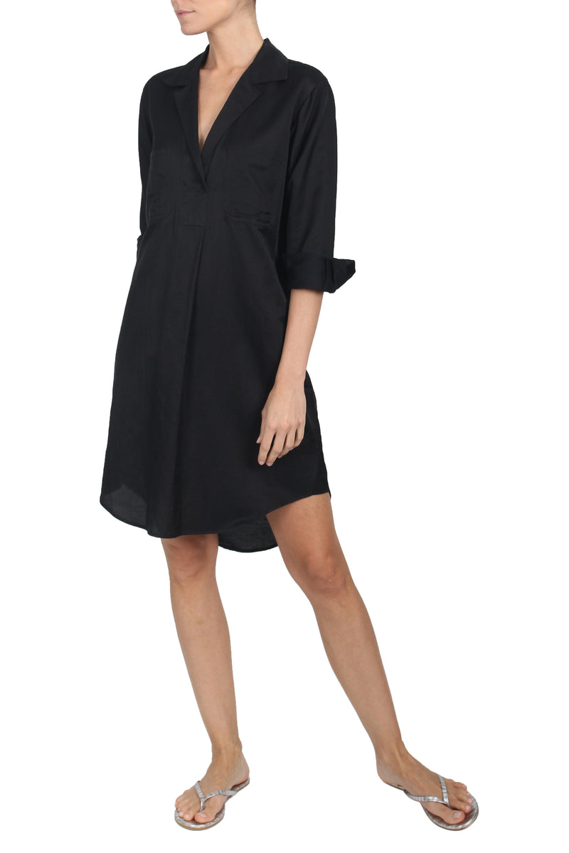 Silk Cotton Shirt Dress