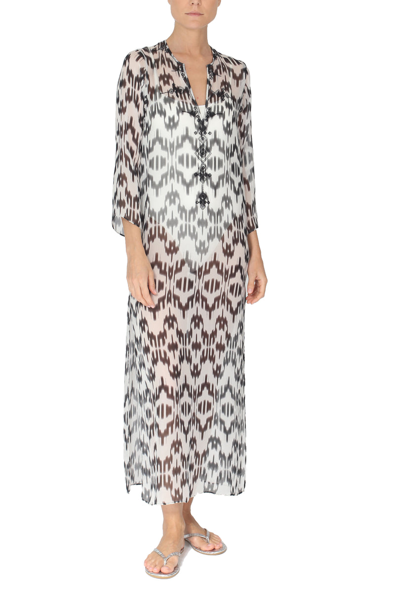 Printed Embroidered Long Tunic
