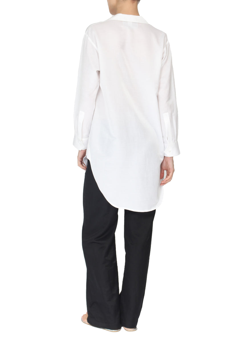 Silk Cotton Oversized Shirt