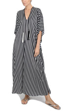 Striped Printed Silk Boubou