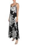 Lurex Big Flower Racer Back Sun Dress