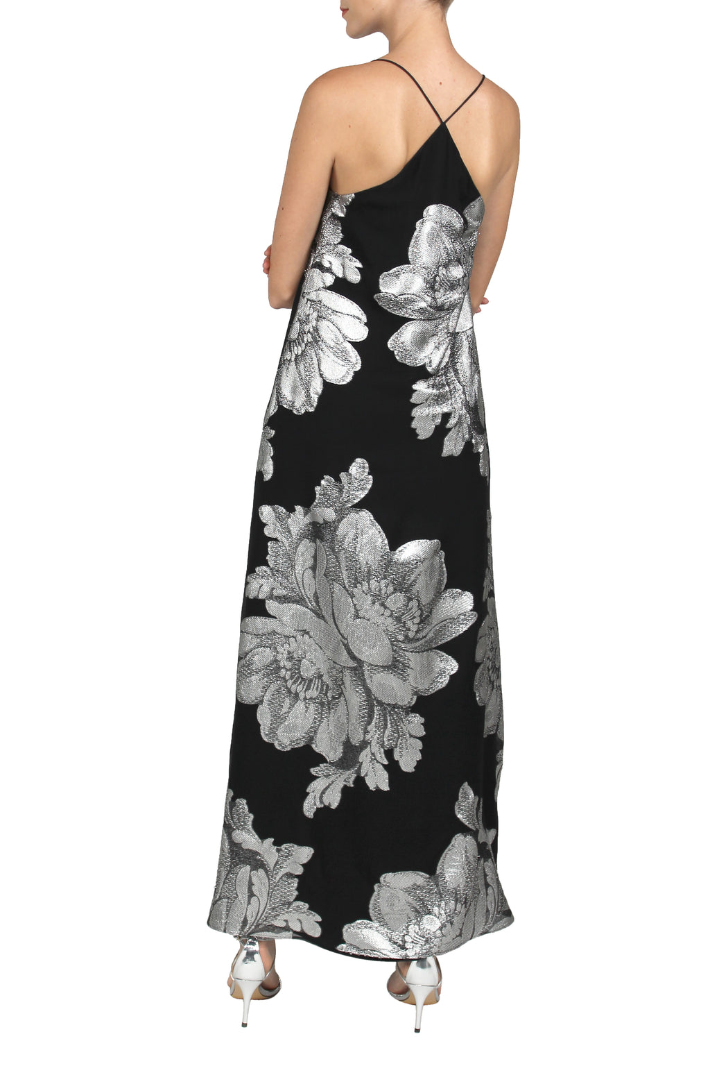Big Flower Racer Back Sun Dress