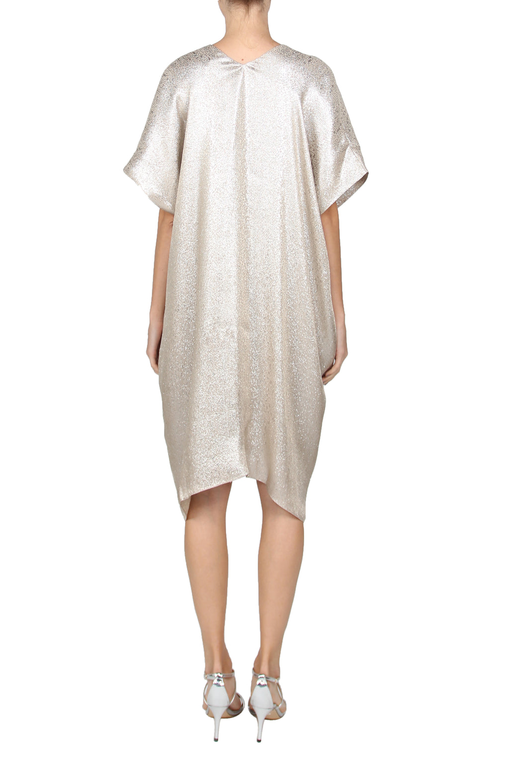 Short Metallic Boubou Caftan