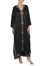 Raindrop Embroidered Sleeve Boubou