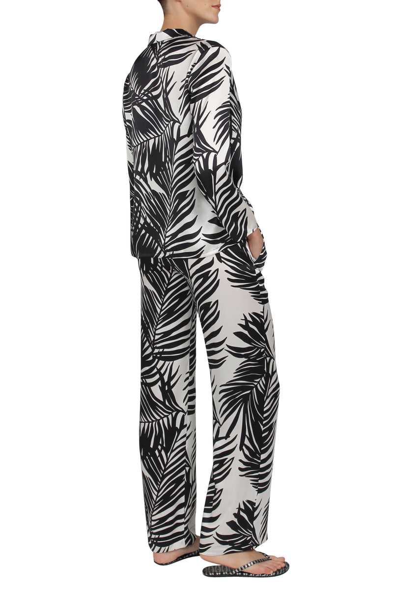 Printed Silk City PJ Set
