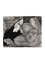 Big Flower Scarf Marie France Van Damme One Size Black Silver