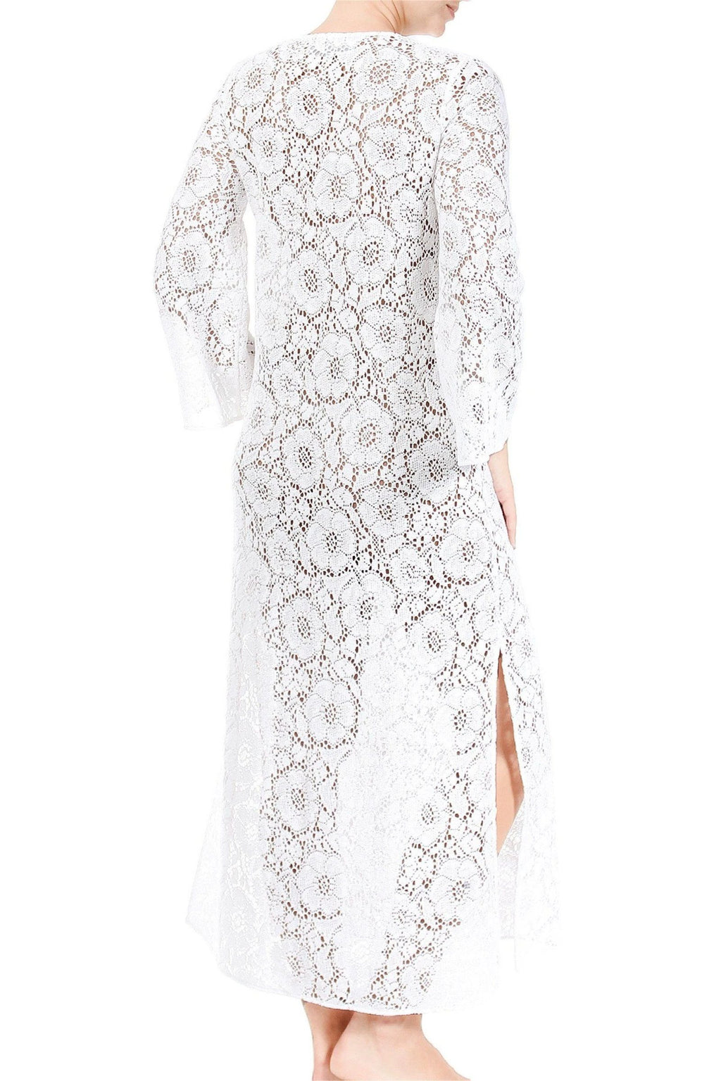 Camellia Crochet Lace Long Tunic Dresses Marie France Van Damme