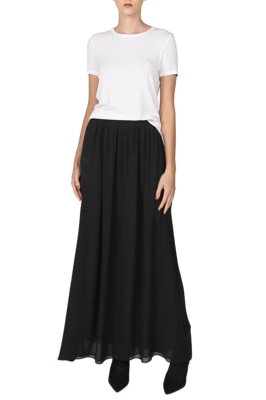 Double Georgette Skirt Marie France Van Damme 0 Black