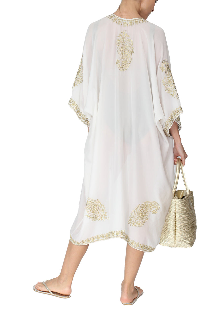 Embroidered Lurex Babani Cover Up Marie France Van Damme