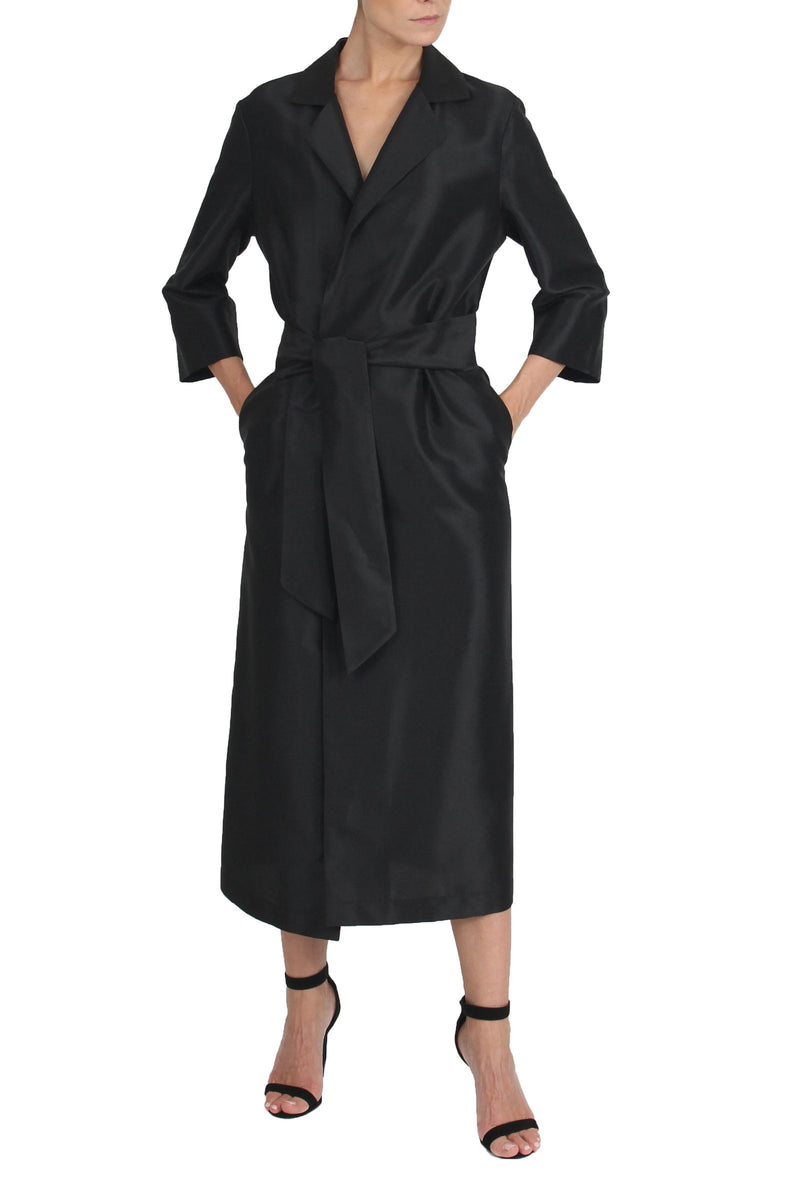 Full-Length Trench Coat Outerwear Marie France Van Damme One Size Black