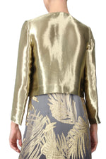 Gold Metallic Lurex Jacket Marie France Van Damme
