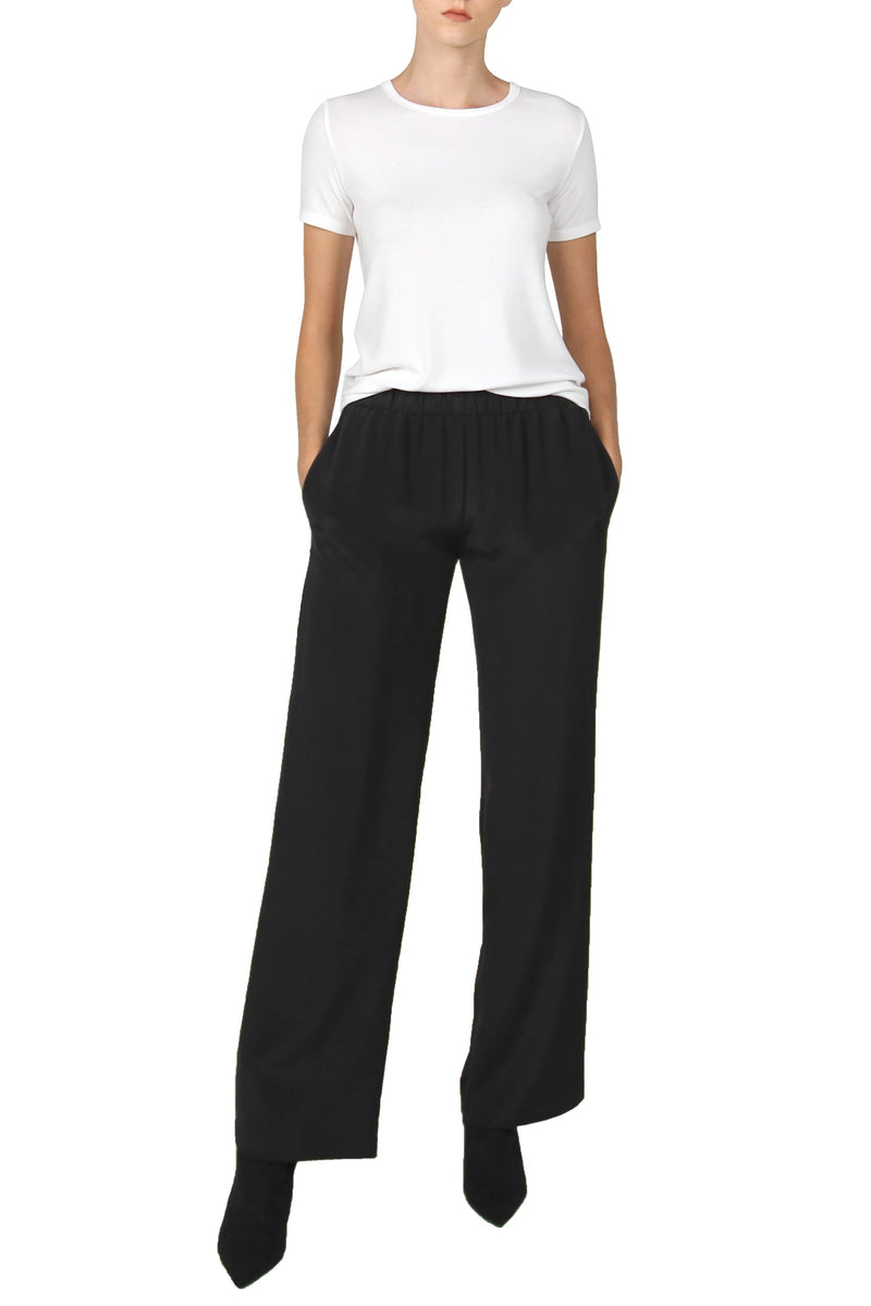 Heavy Stretch Flare Pants Marie France Van Damme 0 Black