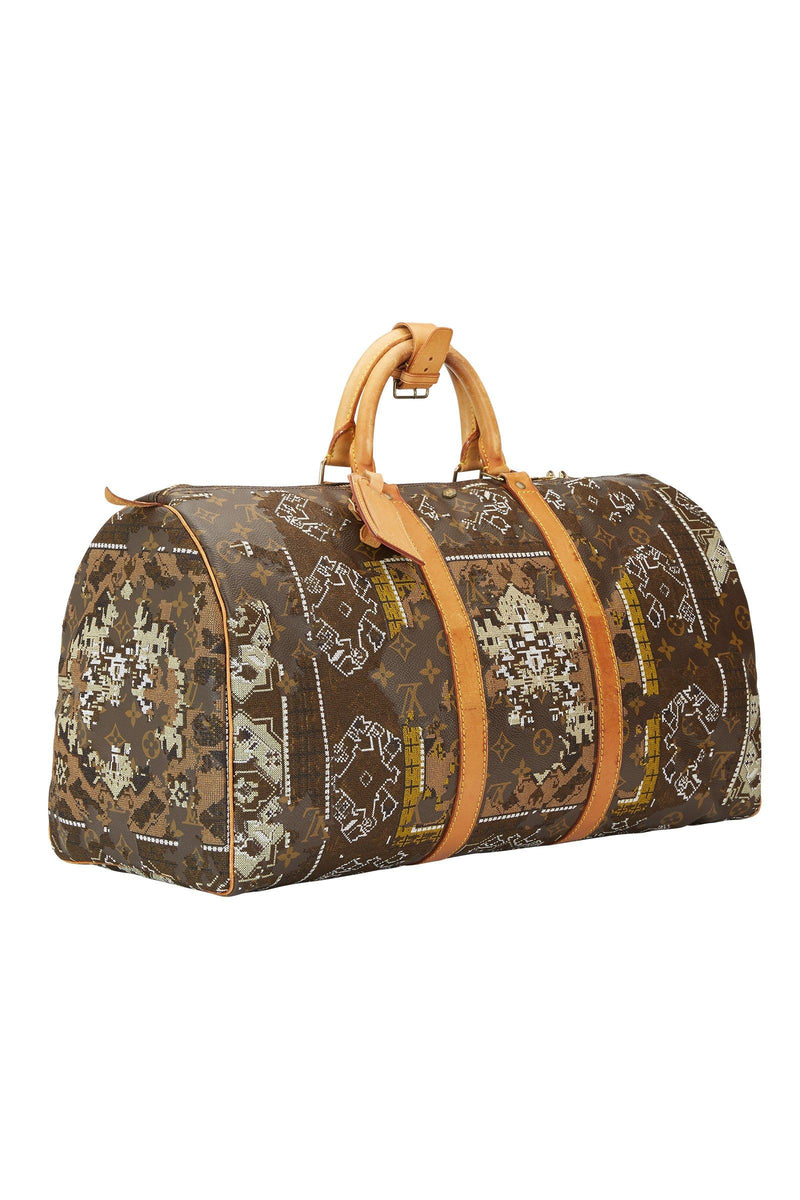 JAY AHR | Persian Rug Act 2 – Khaki White Louis Vuitton Keepall 50 Marie France Van Damme