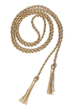 Leather Braided Belt with Tassels Marie France Van Damme One Size Gold