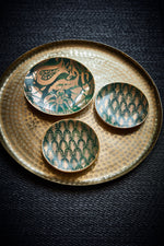 L'OBJET | Fortuny Piumette Canape Plates (Set of 4) Marie France Van Damme