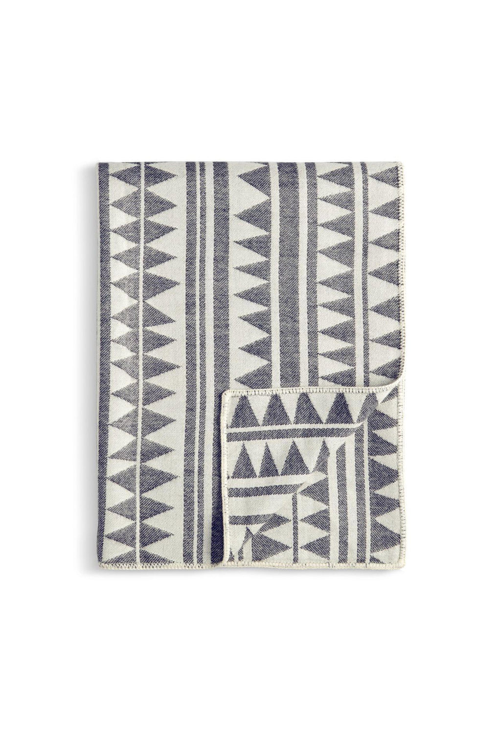 L'OBJET | Triangles Jacquard Throw L'Objet Marie France Van Damme Ercu + Grey