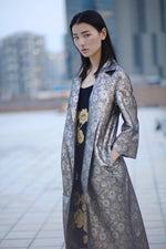 Long Oriental Trench Coat Outerwear Marie France Van Damme