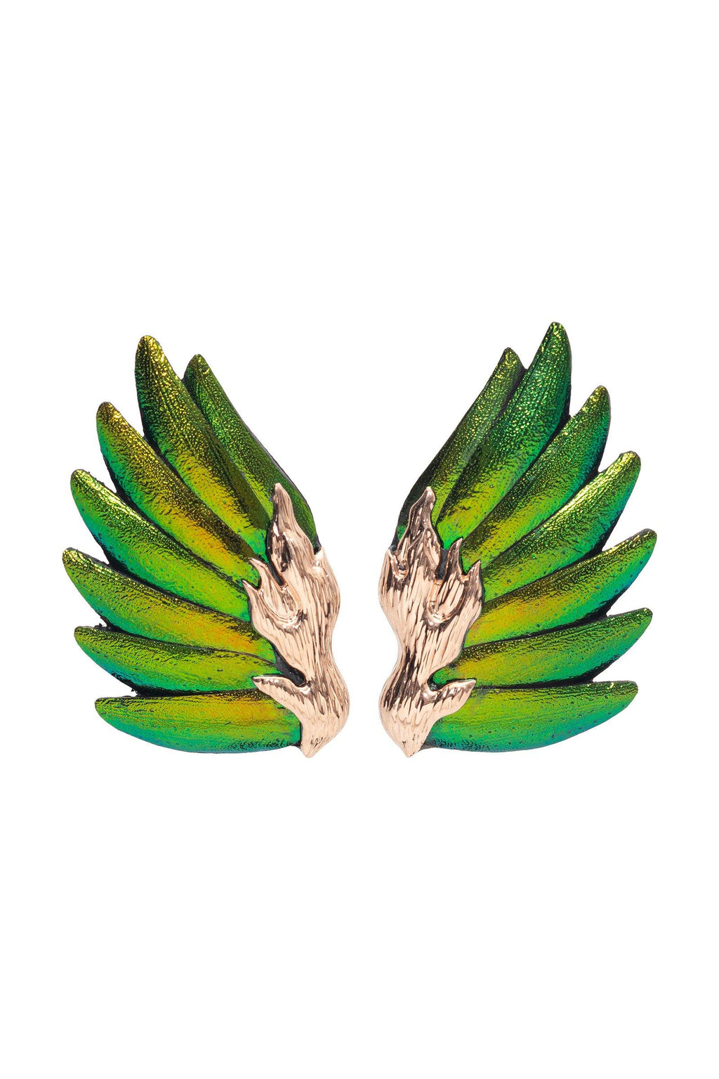 LOTUS | Scarab Wing Earrings Marie France Van Damme
