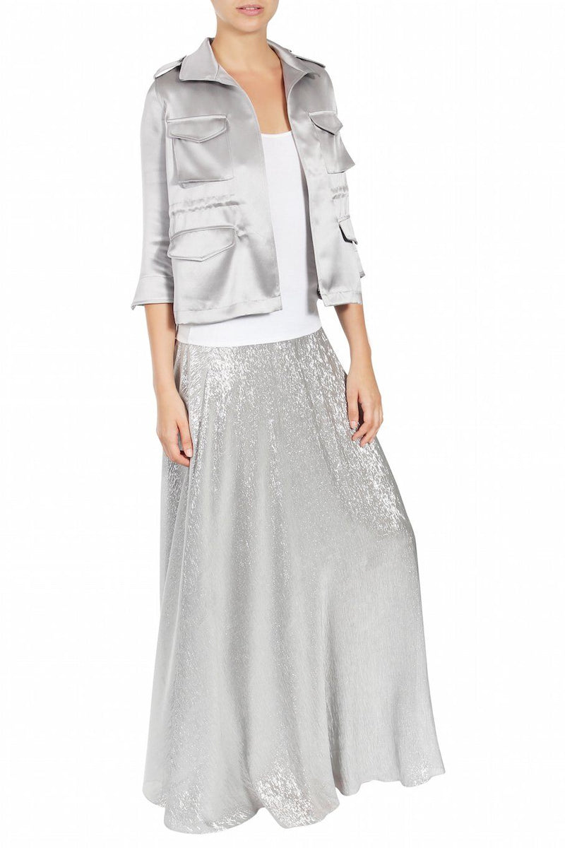 Metallic Sweep Skirt Marie France Van Damme