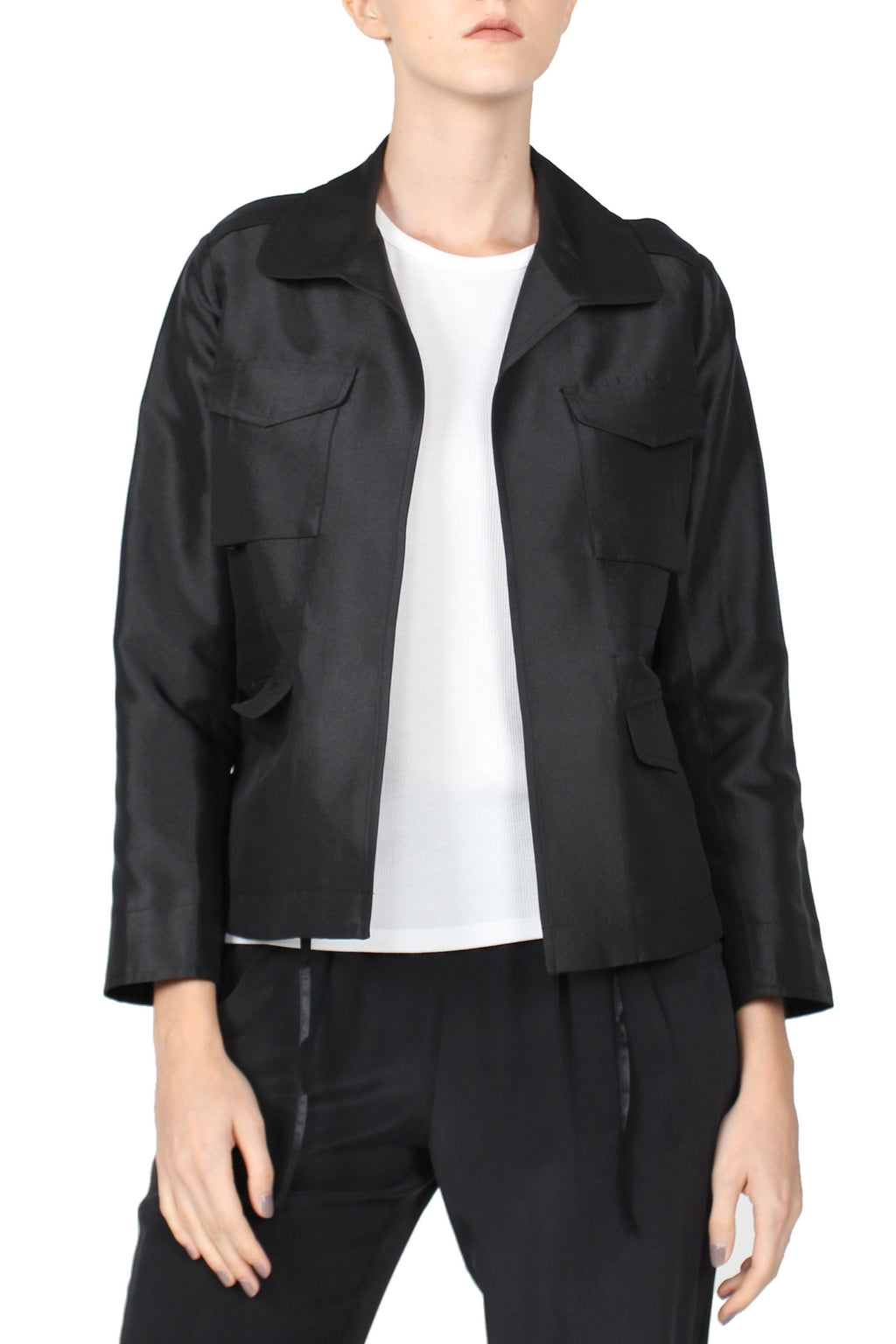 Military Jacket Outerwear Marie France Van Damme 0 Black