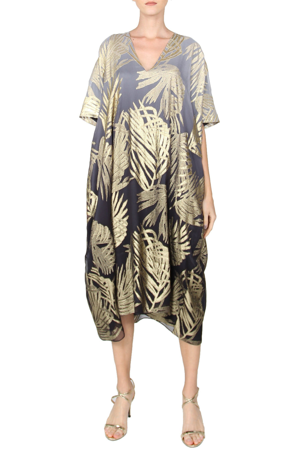 Palm Midi Metallic BouBou Marie France Van Damme One Size Black Gold Ombre