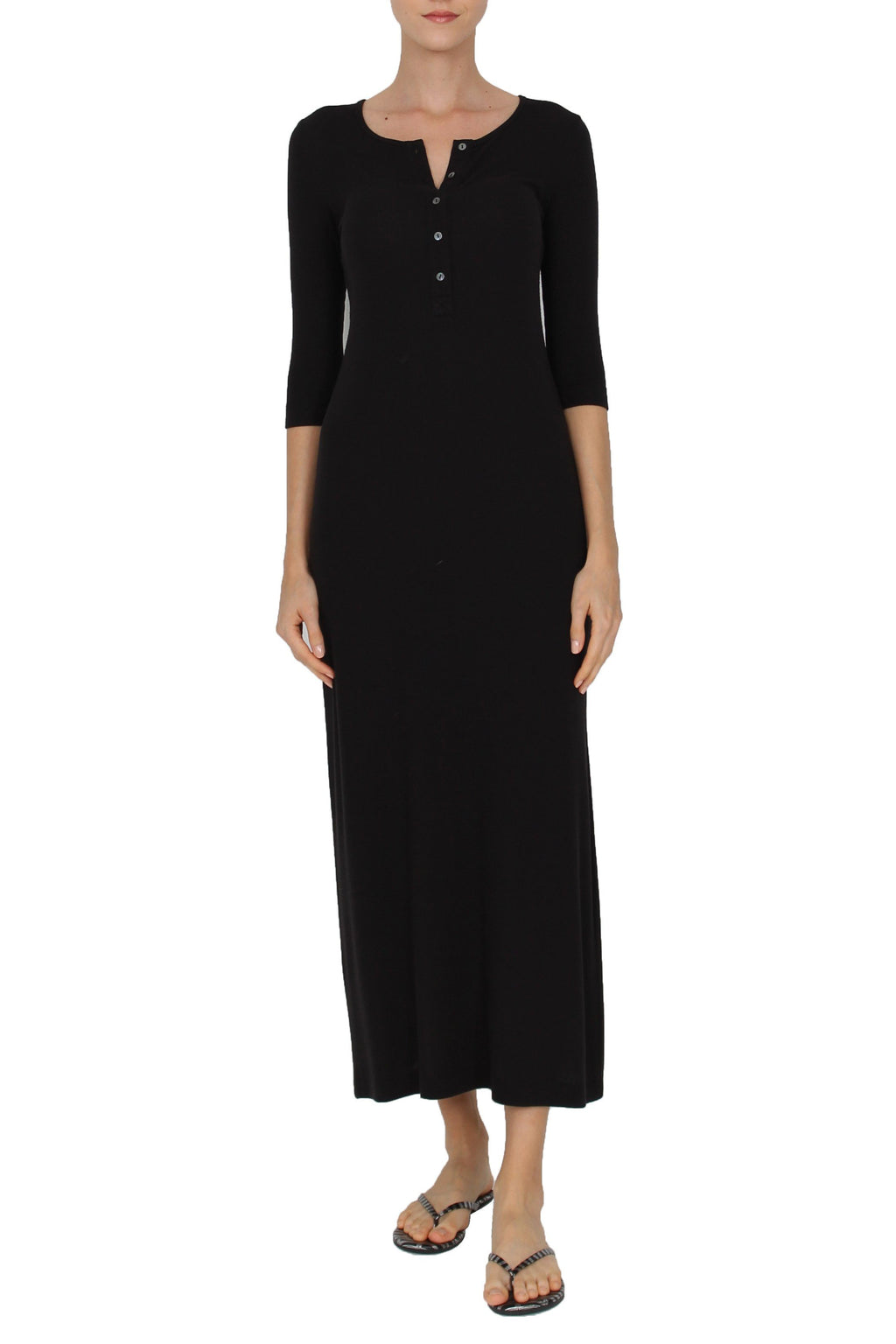 Ribbed Tunisien Dress Dresses Marie France Van Damme 0 Black