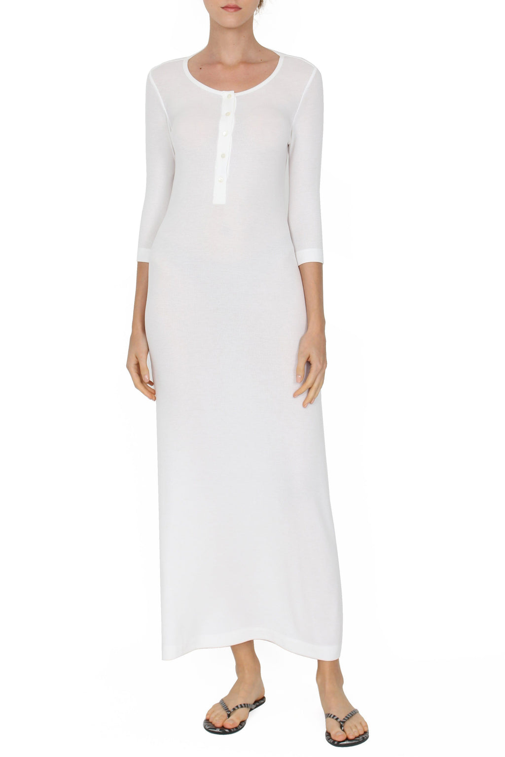 Ribbed Tunisien Dress Marie France Van Damme 0 Pure White