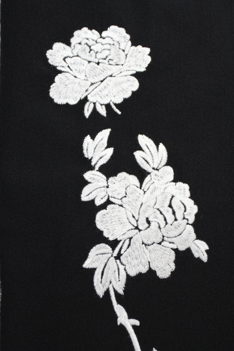 Rose Embroidered Long Hammer Dress Caftans Marie France Van Damme