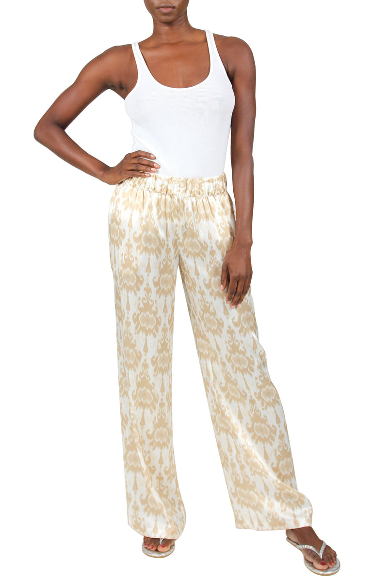 Satin Flare Pants Marie France Van Damme 0 Zatic Light Gold