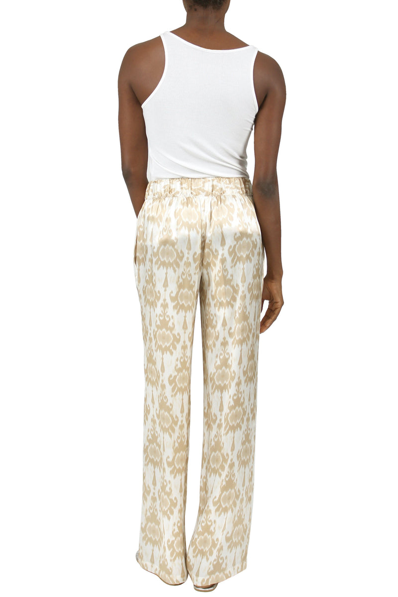 Satin Flare Pants Marie France Van Damme