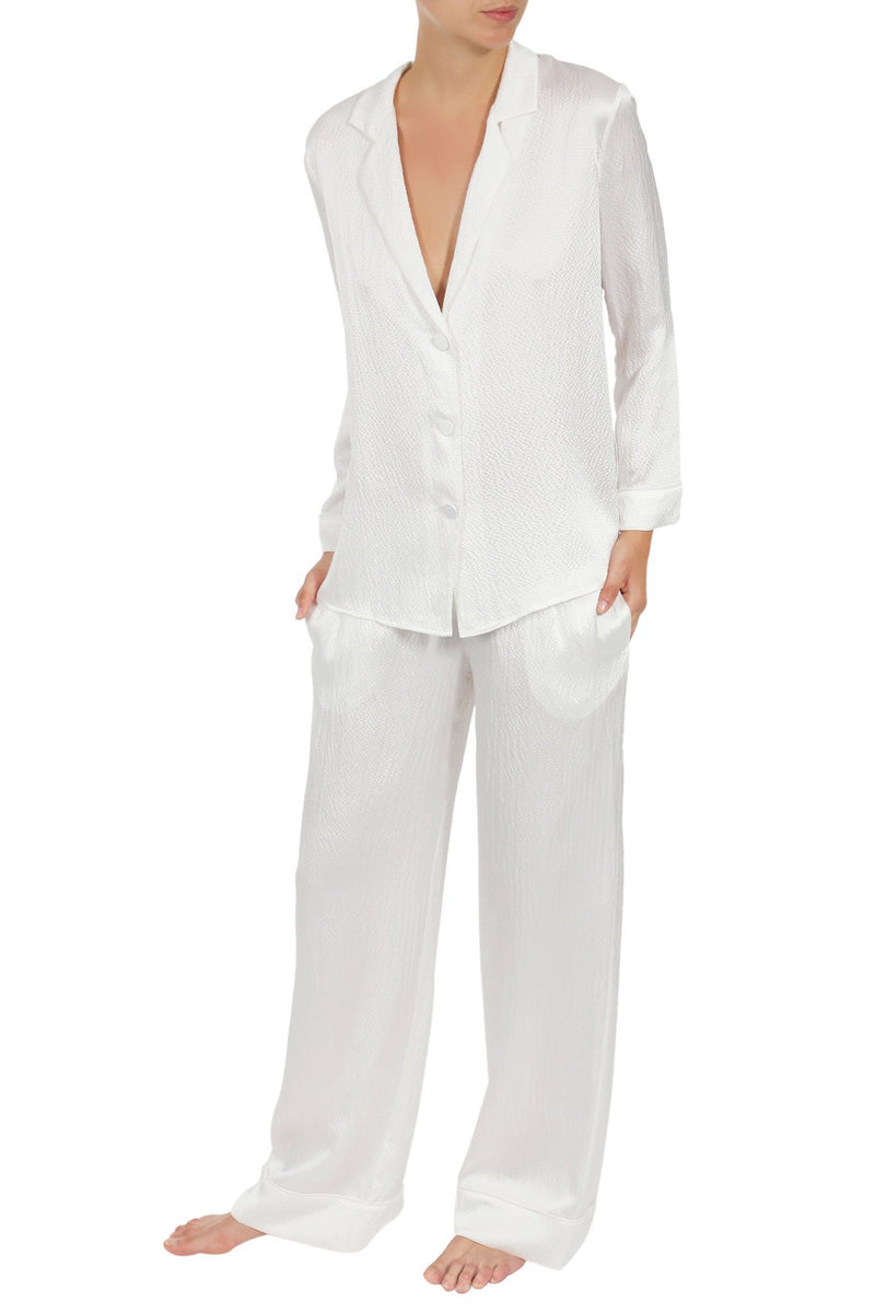 Silk City Pajama City Pyjamas Marie France Van Damme White 0