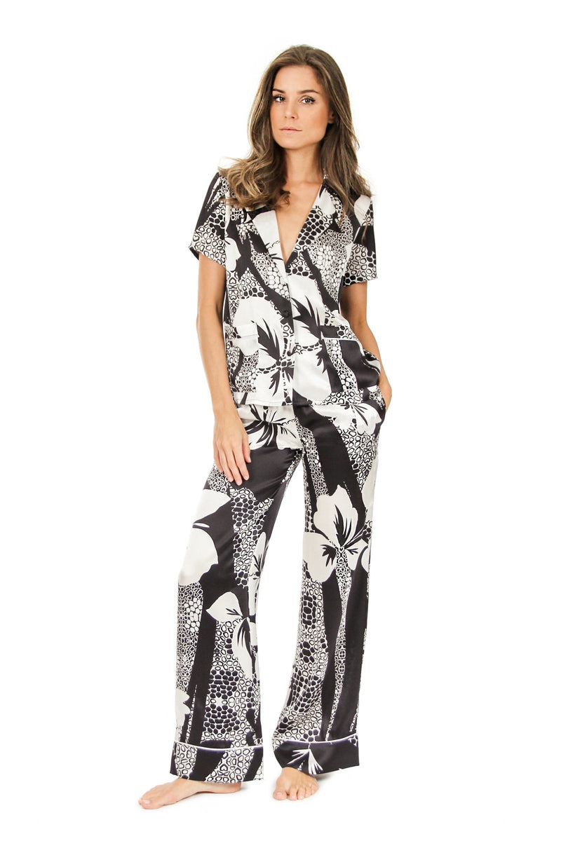 Silk Flare Pants Marie France Van Damme 0 Hawaii