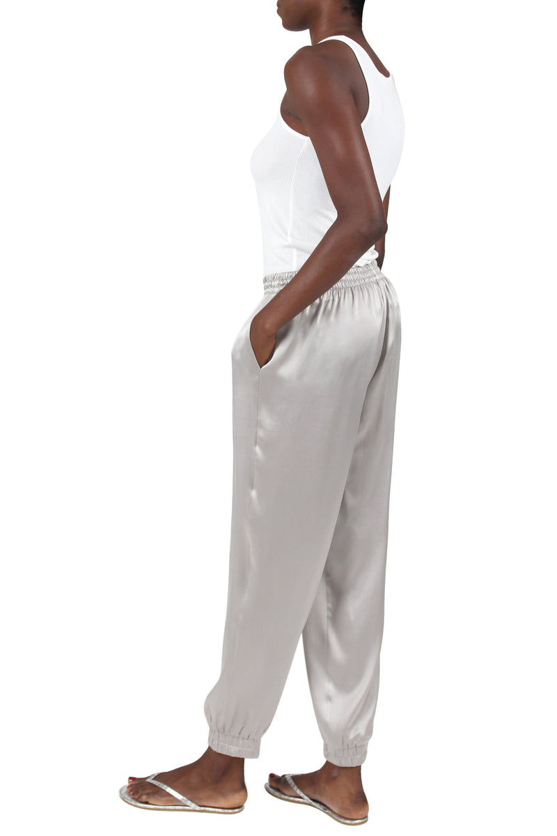 Silk Satin Track Pants Pants Marie France Van Damme
