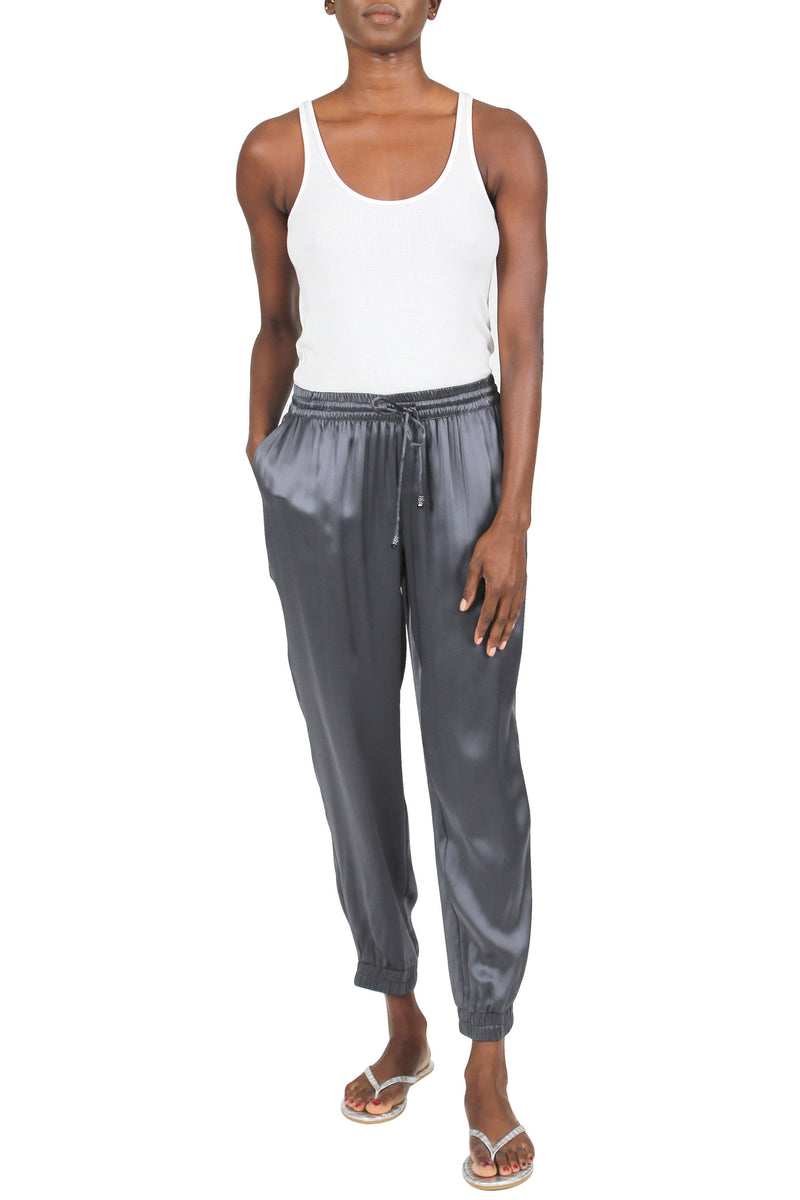 Silk Satin Track Pants Pants Marie France Van Damme Outer Black 0