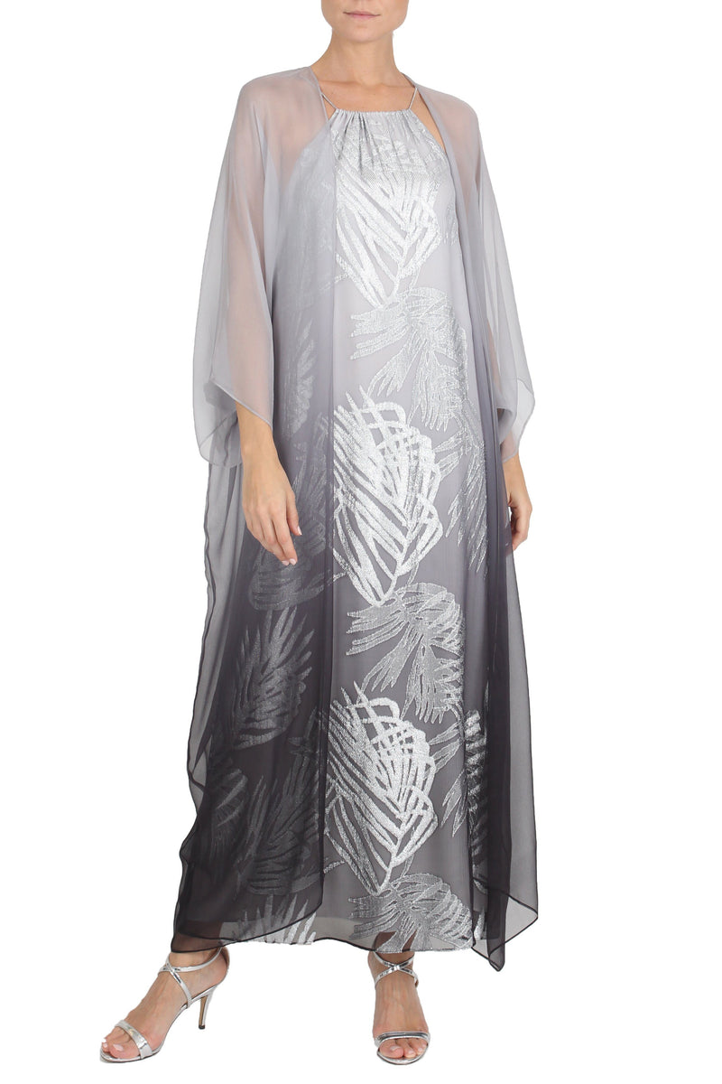 Silver Ombre Babani Cover Up Cover Ups Marie France Van Damme One Size Silver Ombre