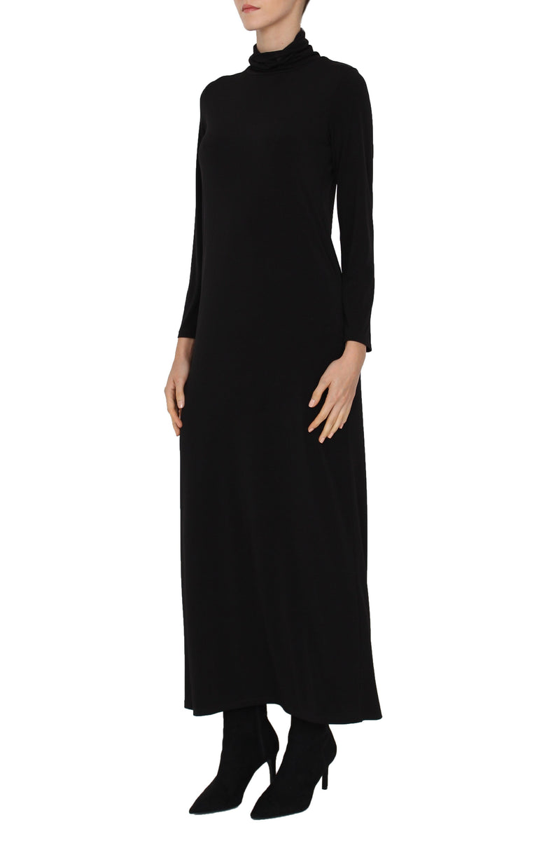 Turtleneck Jersey Dress Dresses Marie France Van Damme 0 Black