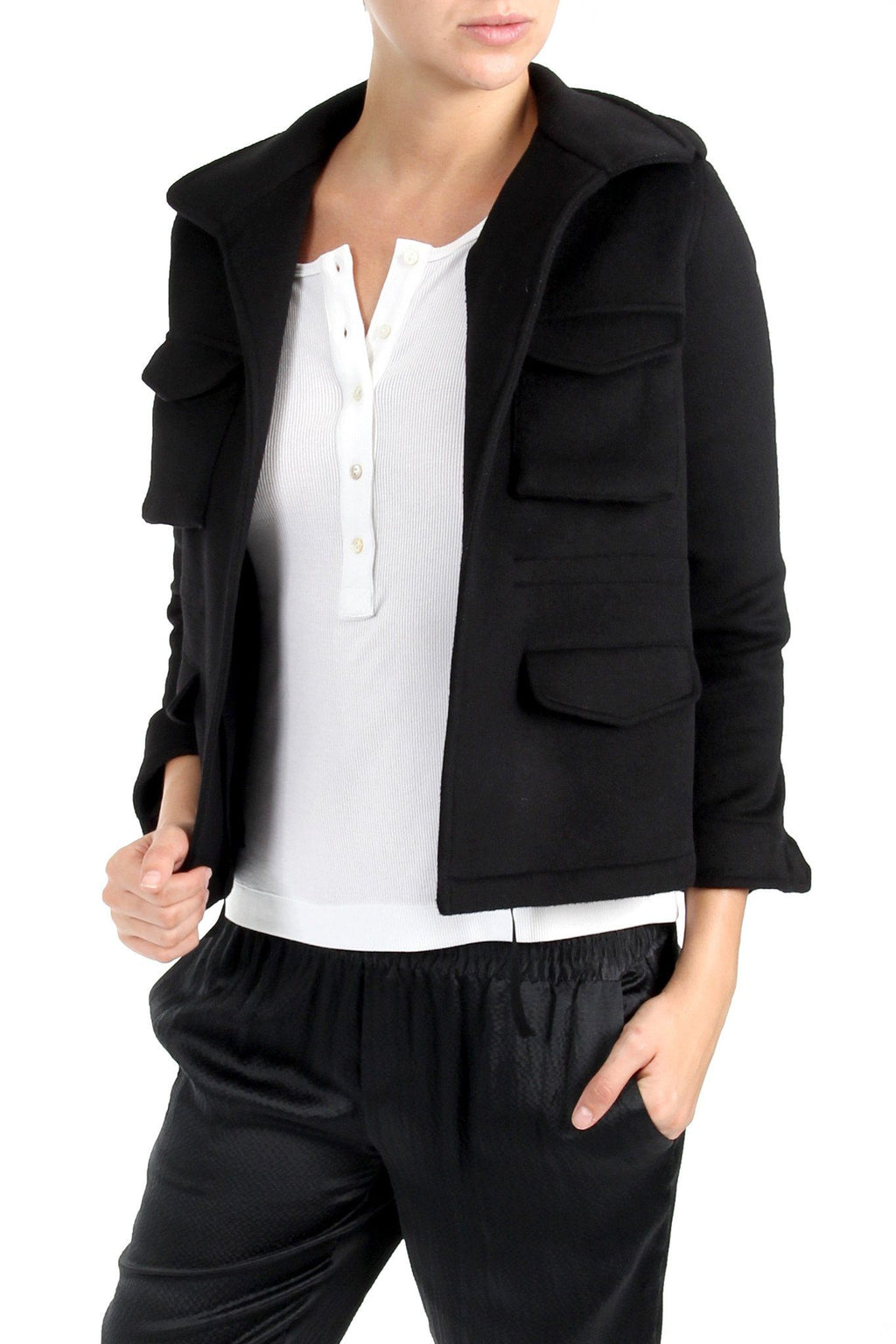 Wool Cashmere Jacket Outerwear Marie France Van Damme 0 Black