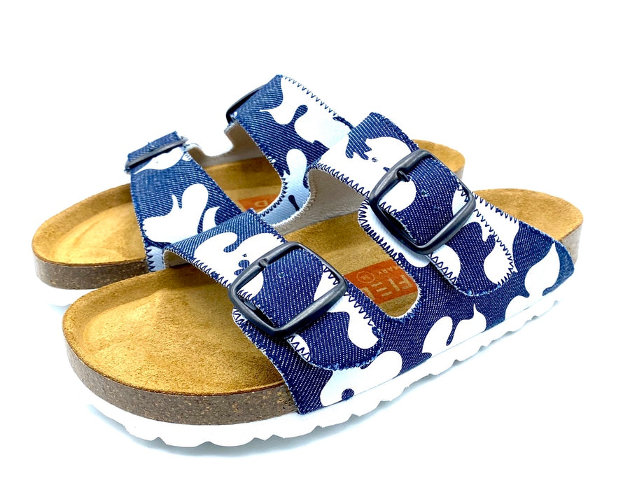 Thora 2-buckle Sandals | Denim White MagnafiedCamo