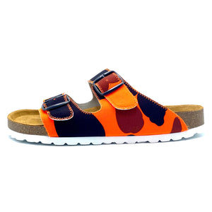 Thor 2-buckle Slide Sandals | Orange Camo W