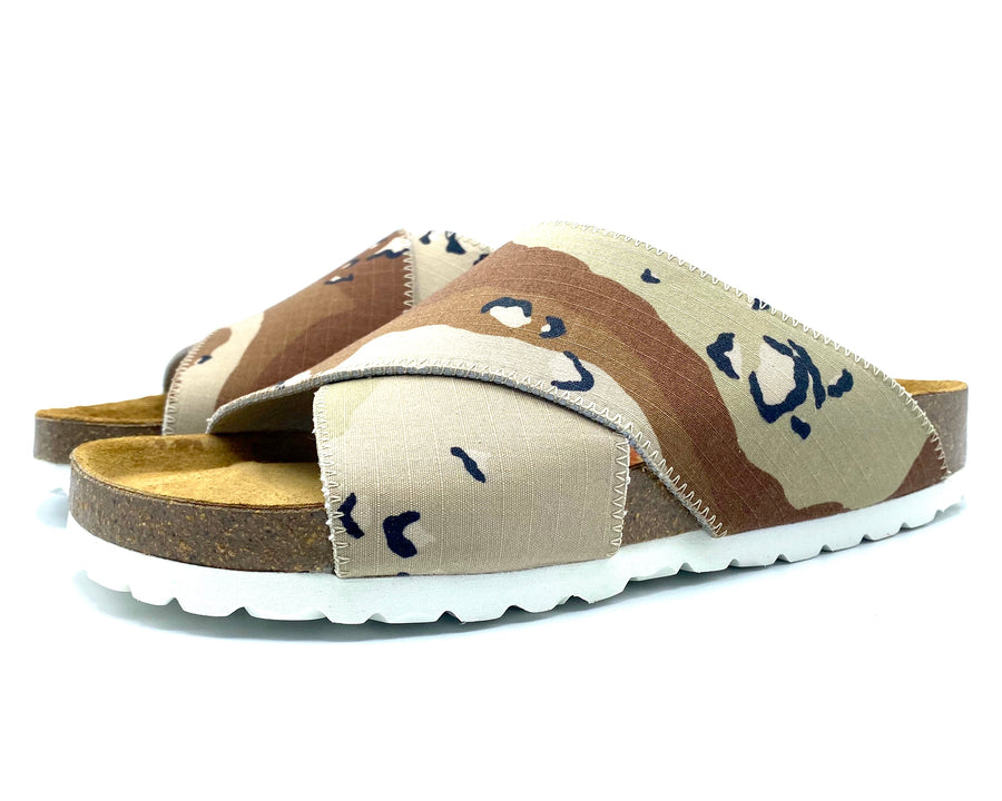 Una Cross-over Sandals | Chocolate Chip Camouflage
