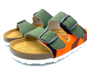 Thora 2-buckle Sandals | O.D x Orange Camo