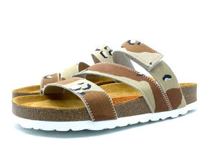 Torun 3-strap Velcro Sandals | Chocolate Chip Camouflage