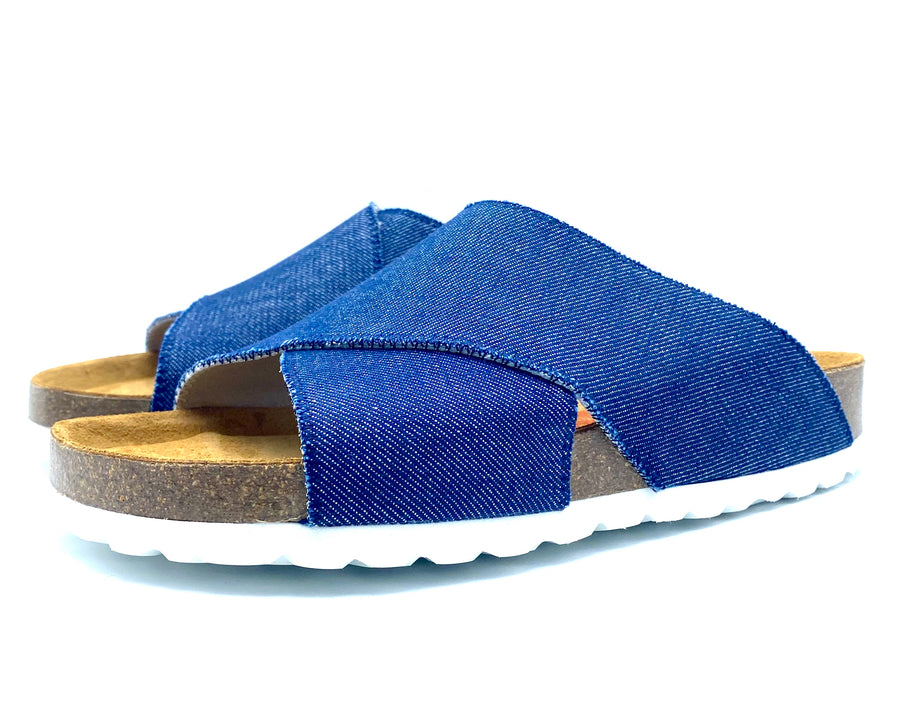 Una Cross-over Sandals | Japanese Denim