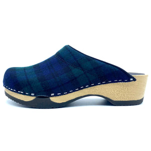 Embla Clogs | Black Watch Tartan